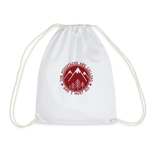 The Mountains are Calling - Drawstring Bag
