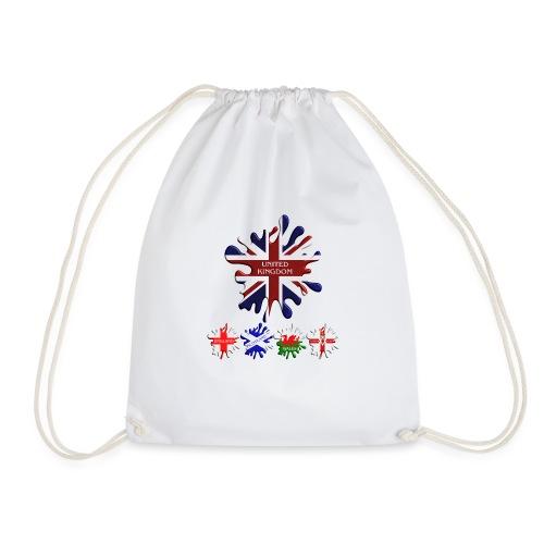 United Kingdom Flags - Drawstring Bag