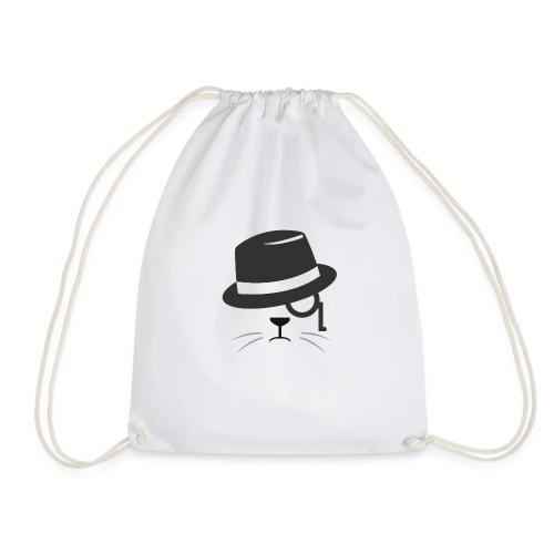 cat glasses - Drawstring Bag