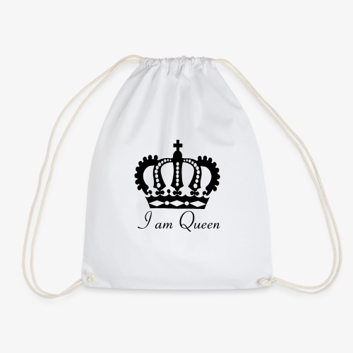 Krone I am Queen für die Königinnen unter uns. - Turnbeutel