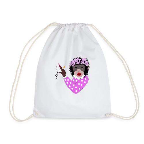 WANNA KISS FEMALE MONKEY - Drawstring Bag