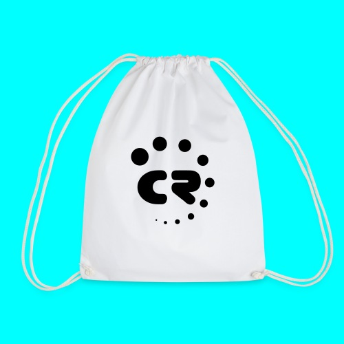 CR black white - Drawstring Bag