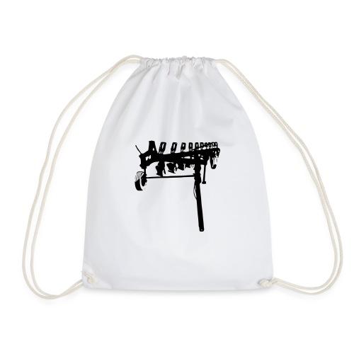 trailed plow - Drawstring Bag