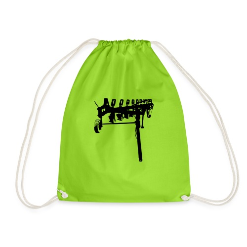 trailed plow - Drawstring Bag