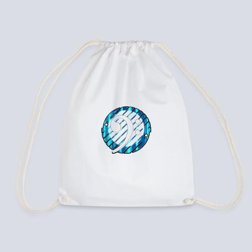 BassClef blue/white - Drawstring Bag