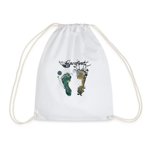 Born To Barefoot - Drawstring Bag
