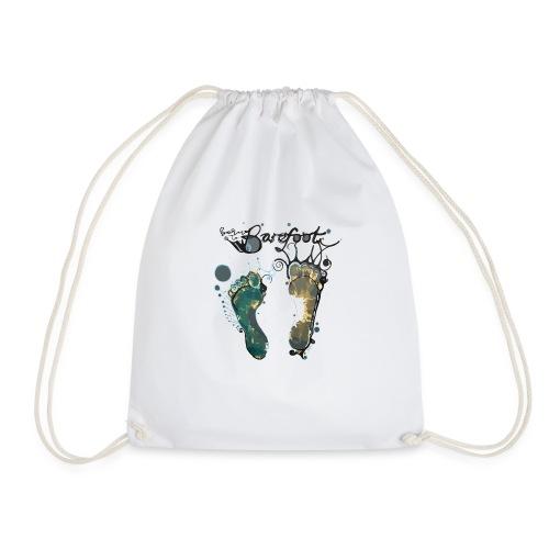 Born To Barefoot - Drawstring Bag