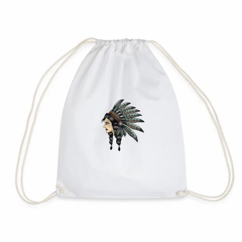 Native Indian Girl - Drawstring Bag