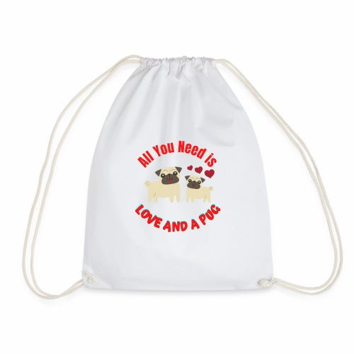 Typography Quotes Pug Lovers T shirt - Drawstring Bag