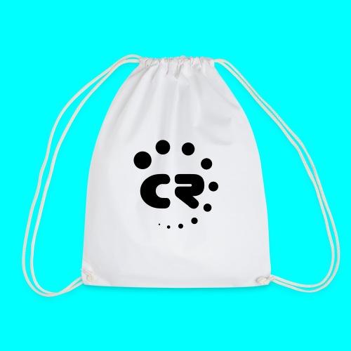 CR black white - Drawstring Bag