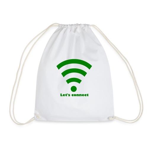 Connected Isle - Drawstring Bag