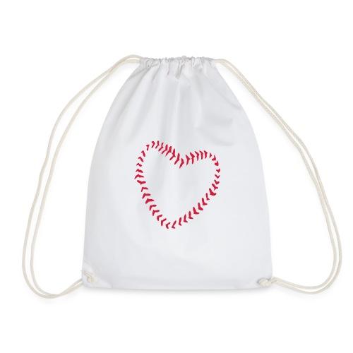2581172 1029128891 Baseball Heart Of Seams - Drawstring Bag