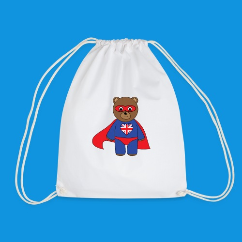 British Hero Bear tank - Drawstring Bag