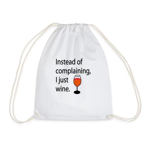 Weinglas - Wine Glass | Food & Drinking - Drawstring Bag