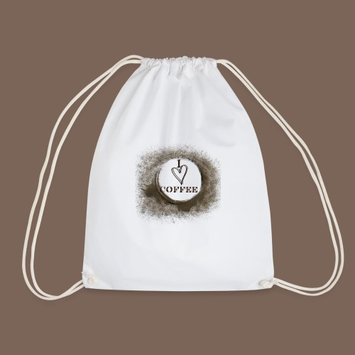 I Heart Coffee - Drawstring Bag