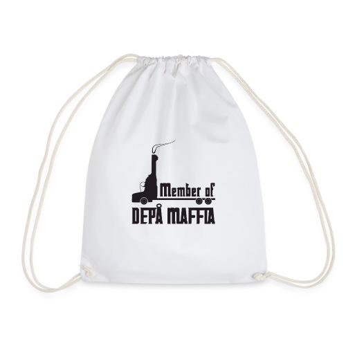 Depå Maffia svart tryck - Gymnastikpåse