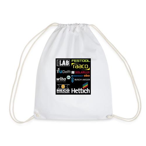 tshirt 2 rueck kopie - Drawstring Bag