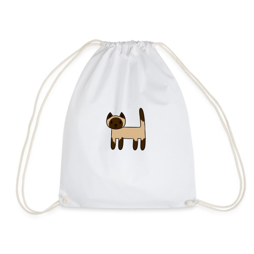 Siamese Cat - Drawstring Bag