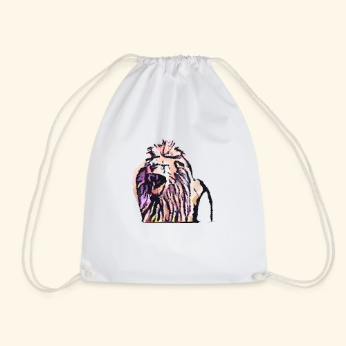 leon geometrico - Mochila saco
