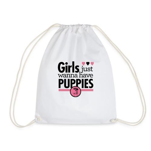 Girls Just Wanna Have Puppies Grey - Turnbeutel