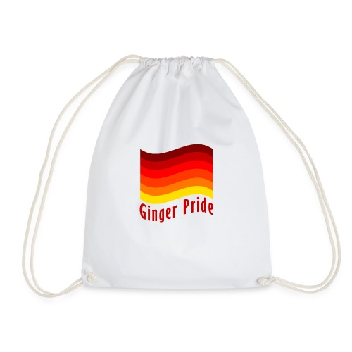 Ginger Pride flag Dark png - Drawstring Bag