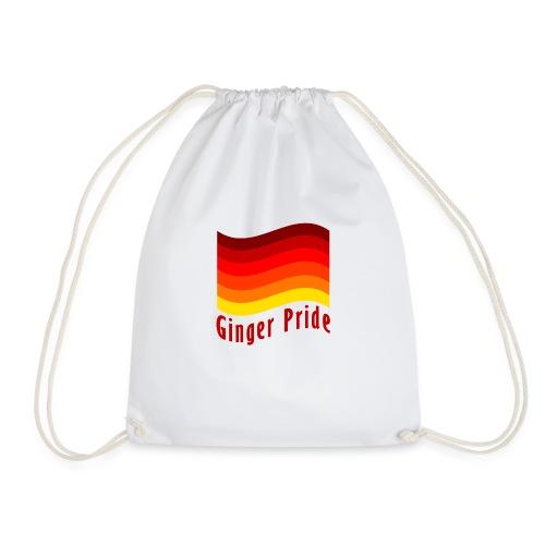 Ginger Pride flag Dark png - Drawstring Bag
