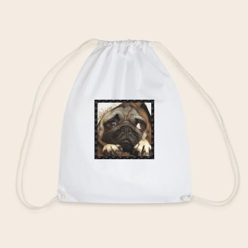 Mops Hund 1 - Turnbeutel