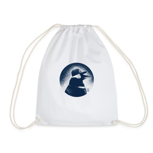 Pinguin dressed in black - Drawstring Bag