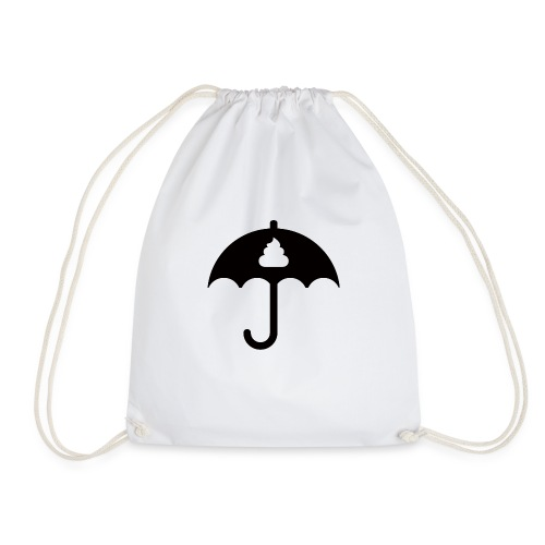 Shit icon Black png - Drawstring Bag