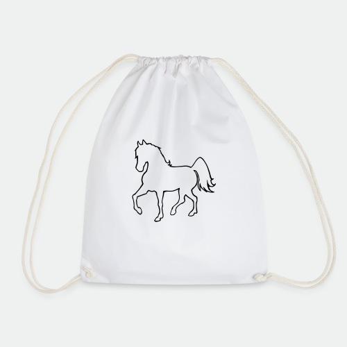 Proud Horse Outline - Drawstring Bag