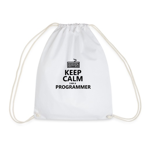 Keep calm programmer developer - Sacca sportiva