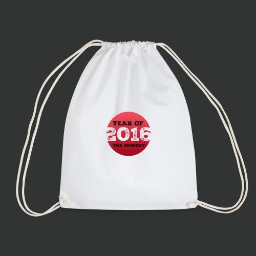 2016 year of the monkey - Drawstring Bag