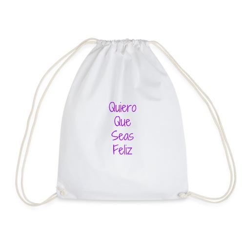 Camiseta Solidaria Niño/a Quiero Que Seas Feliz - Mochila saco