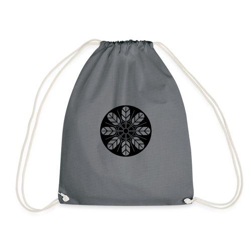 Inoue clan kamon in black - Drawstring Bag