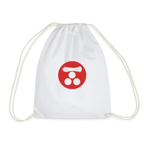 Mori Mon Japanese samurai clan in red - Drawstring Bag