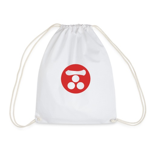 Mori Mon Japanese samurai clan in red - Drawstring Bag