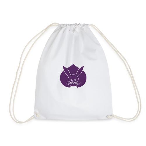 Usagi kamon japanese rabbit purple - Drawstring Bag