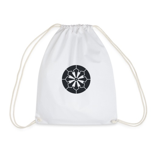 Sanja Matsuri Komagata mon dark grey - Drawstring Bag