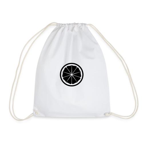 Seishinkai Karate Kamon in black - Drawstring Bag
