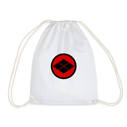 Takeda kamon Japanese samurai clan round - Drawstring Bag