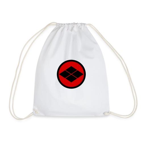 Takeda kamon Japanese samurai clan round - Drawstring Bag