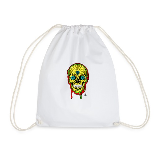 Dipped Sugar Skull - Drawstring Bag