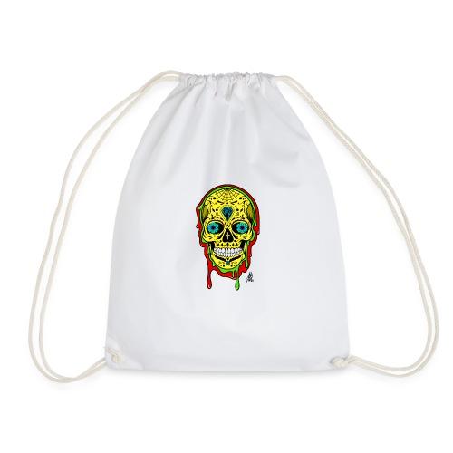 Dipped Sugar Skull - Drawstring Bag