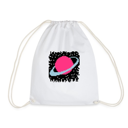 PixelArt Saturn - Drawstring Bag