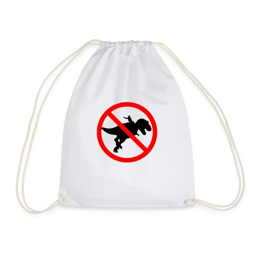 No riding dinosaurs - Mochila saco