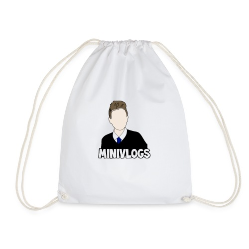 MiniVlogs V-Neck T-Shirt - Drawstring Bag