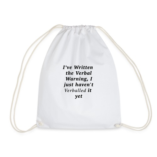 Verballed-Warning - Drawstring Bag