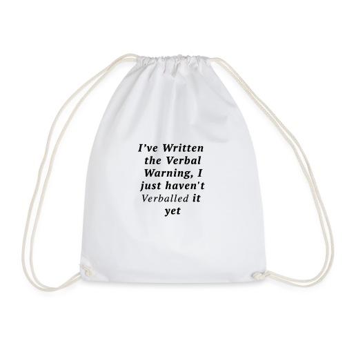 Verballed-Warning - Drawstring Bag