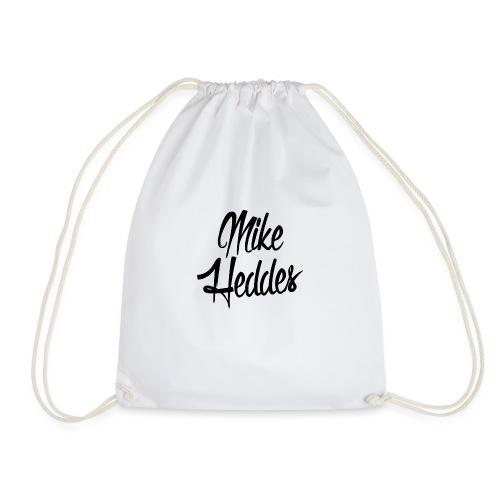 Mike Heddes Logo Black - Drawstring Bag