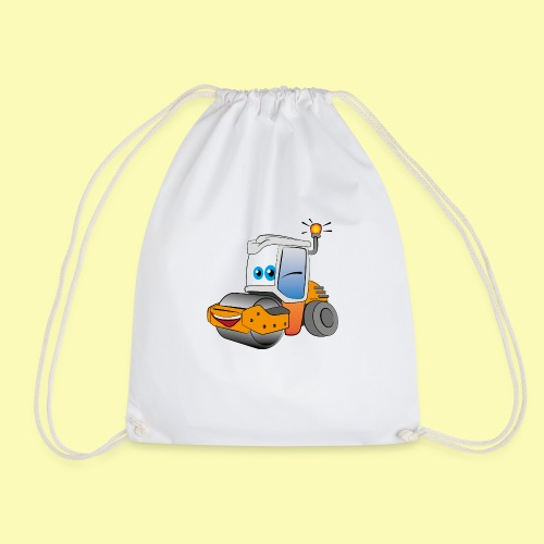 Baumaschine Straßenwalze Erdbau Bauarbeiter - Turnbeutel